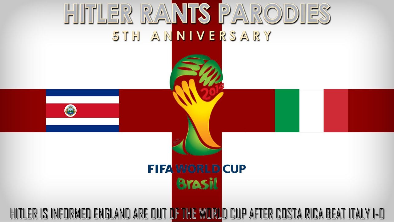 Hitler is informed England are out of the World Cup after Costa Rica beat Italy 1-0