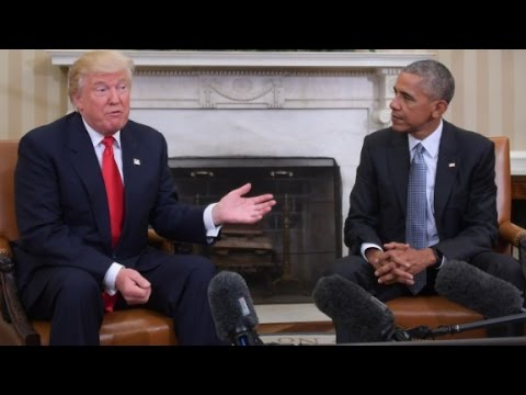Trump contradicts Obama throughout transition