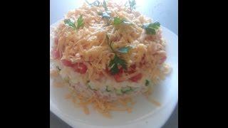 Уникальный салат с крабовыми палочками