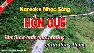 Karaoke Hồn Quê - Hoài Nam Karaoke HD