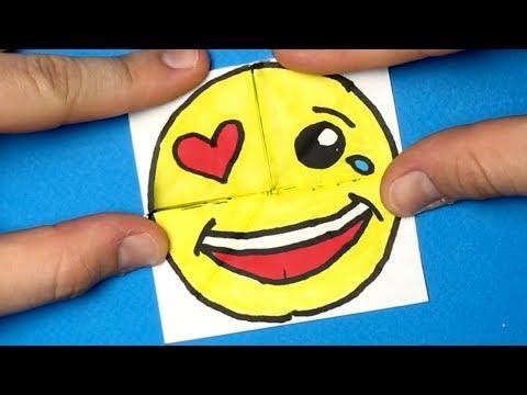 Emoji DIY Paper Magic Card - Face Changer Tutorial For Kids