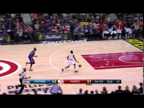 Jeff Teague steal and slam