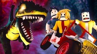 Roblox Animation - JURASSIC PARK: T-Rex Escape! (Dinosaur Animation)