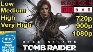 RX 560 (4GB) - G4560 - Rise of the Tomb Raider | 720p - 900p - 1080p Gaming Comparison
