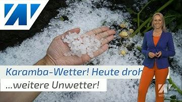 Erst Blitze, dann Hitze! Heute neue Unwetter, ab Montag probt der Hitzesommer! (Mod.: Kathy Schrey)