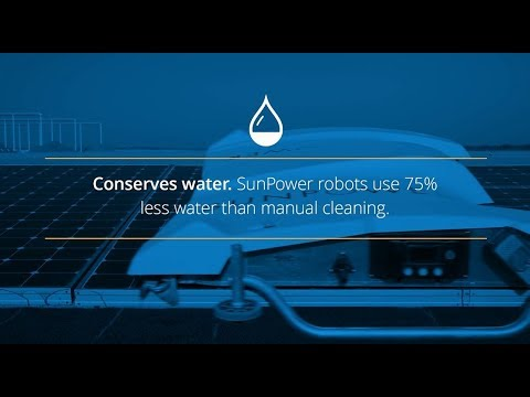 SunPower Oasis Power Plant robotic panel cleaning technology