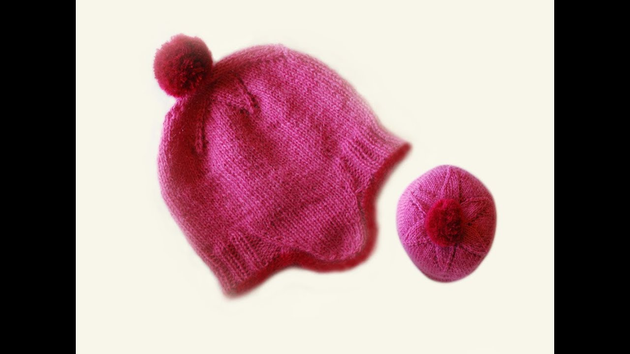 HOW TO KNIT A CLASSIC BOBBLE HAT WITH LACE INCREASES TO THE CROWN- Fits adult...