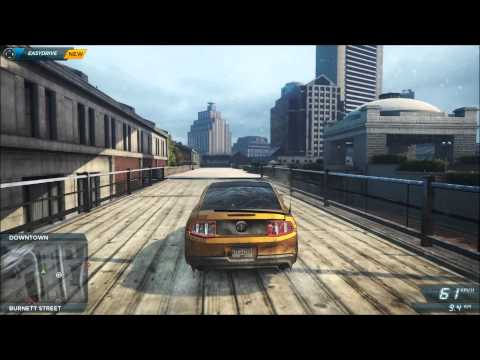 NFS Most Wanted 2012 Jumping And Destroying Billboards!