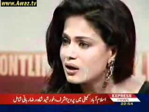 Veena Malik - Crying and Cursing Pakistani People in Frontline