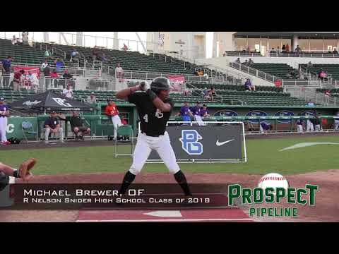 Michael Brewer prospect video, OF, R Nelson Snider High School Class of 2018