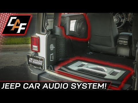 custom subwoofer box and amp rack - jeep project overview - youtube