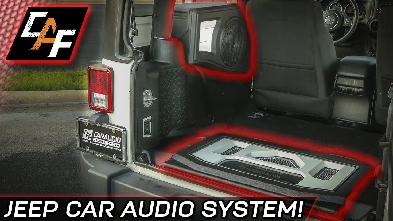 hight resolution of custom subwoofer box and amp rack jeep project overview