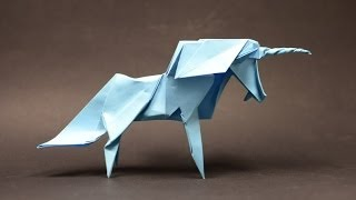 Origami Unicorn by Roman Diaz (part 1 of 2) (remake) - Yakomoga Origami tutorial
