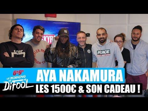 Aya Nakamura - Les 1500€ & Son cadeau offert par Difool ! #MorningDeDifool