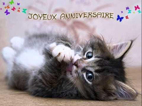 carte anniversaire chat qui chante JOYEUX ANNIVERSAIRE   YouTube