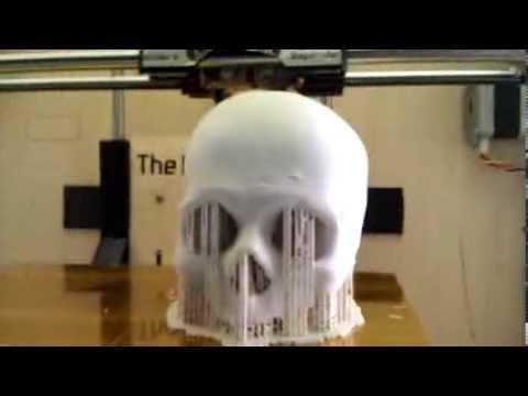 3D печать модели черепа - YouTube a3830e7f6cd36