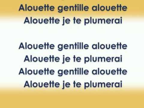 Alouette gentille alouette ( chanson + karaoké de la comptine )