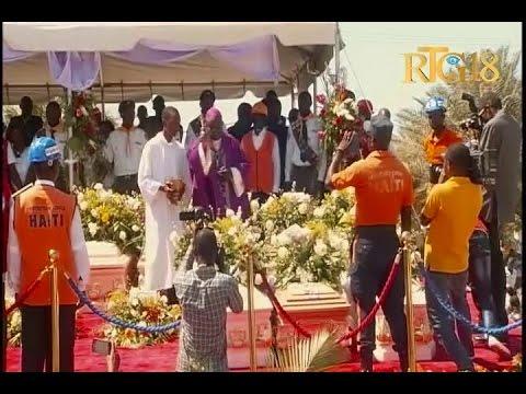 Les funérailles des victimes de l'accident aux Gonaïves