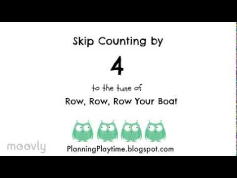 Skip Counting by 4s - To Row, row, row your Boat