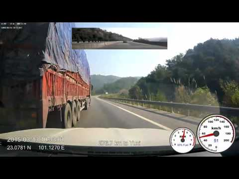 2015-03-13 drive-lapse from Puer to Yuxi, 6x speed, 1080p, 60fps