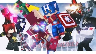 Minecraft Adventure - CAPTAIN AMERICA : CIVIL WAR, FULL MOVIE!