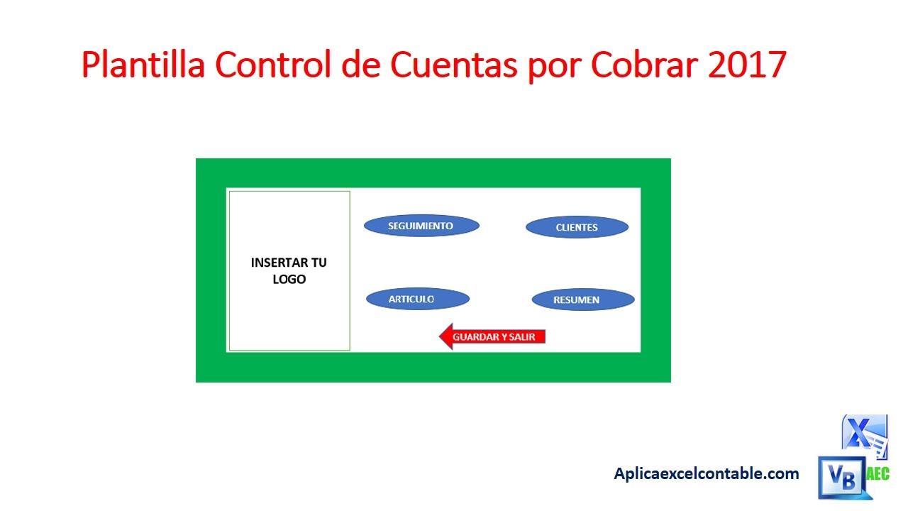 Presentacion Plantilla Control de Cuentas por Cobrar - YouTube