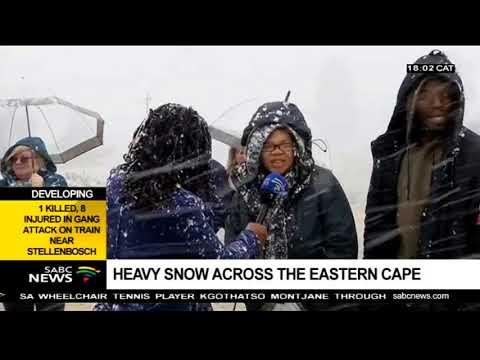 Heavy snow falls across Eastern Cape