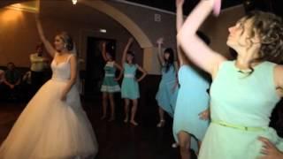 Танец невесты Насти и нас - ее подруг, переходящий во флешмоб