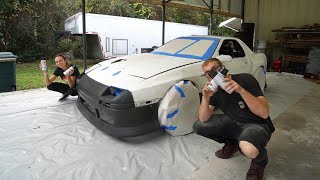 homepage tile video photo for Spray painting my FC RX7. Can it actually look good?