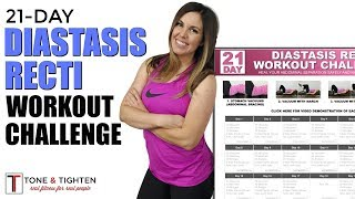 21-Day Diastasis Recti Workout Challenge - Post Pregnancy Ab Challenge