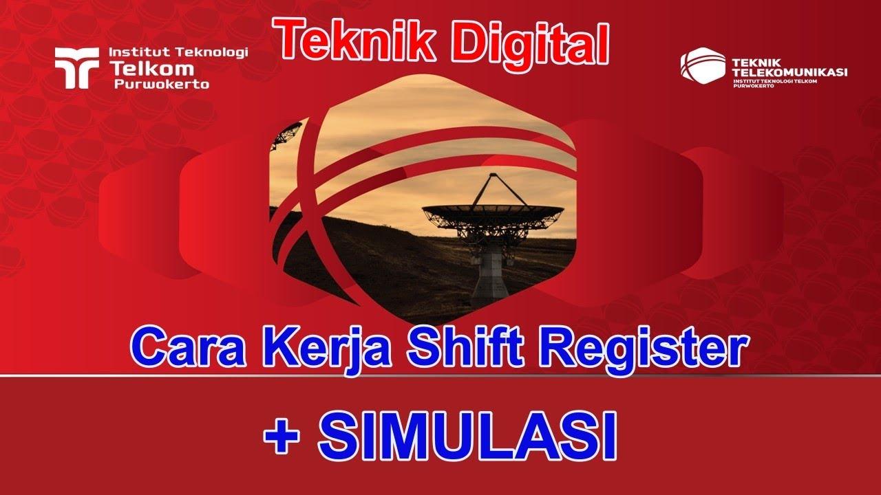 Cara Kerja Shift Register Teknik Digital - YouTube