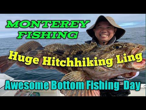 Monterey Bottom Fishing: Amazing Day Of Fishing - Huge Hitchhiking Lingcod