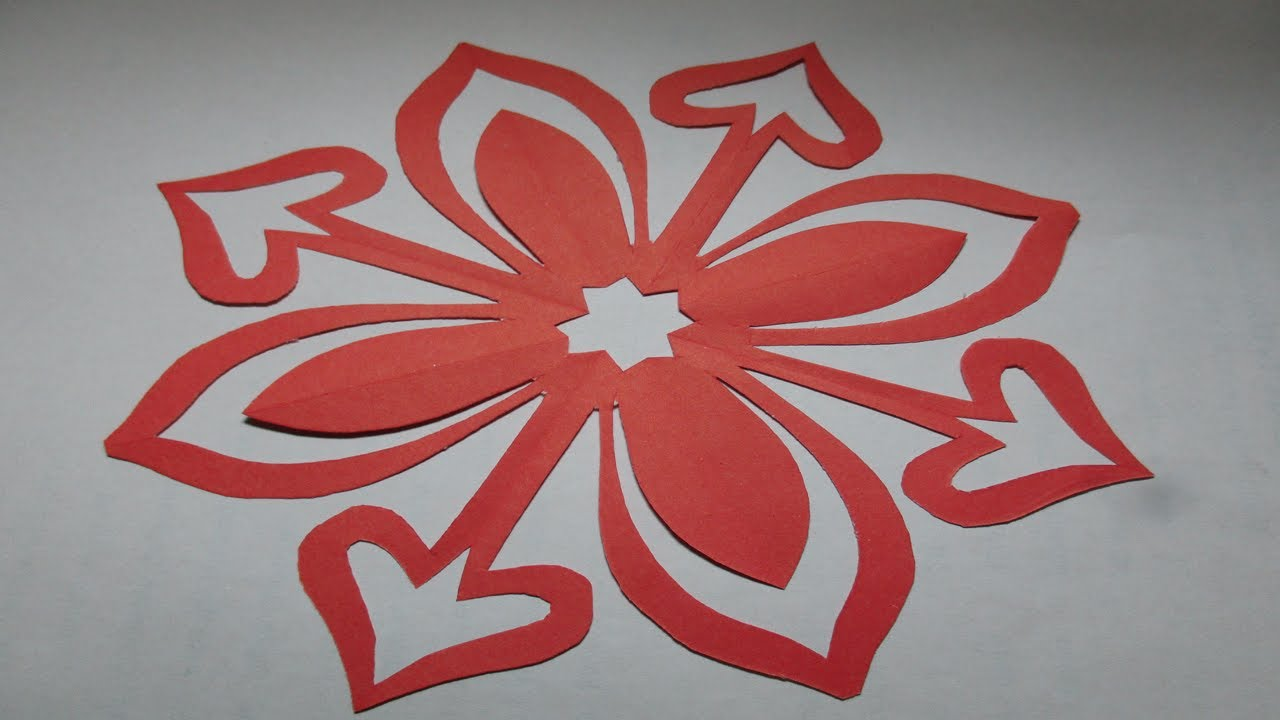 how to make simple easy paper cutting flower designs paper flowersdiy tutorial by step by step