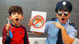 Officer teaches Jason rules of Kids Routine