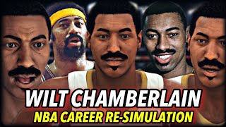 WILT CHAMBERLAIN'S NBA CAREER RE-SIMULATION | HE BROKE EVERY RECORD? THE GOAT... BY FAR? | NBA 2K20