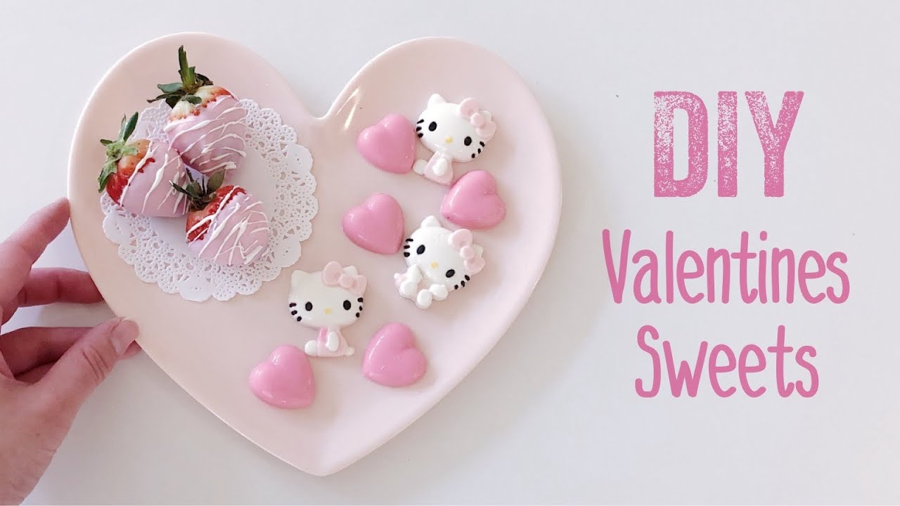 DIY Valentines Day Hello Kitty Chocolates & Strawberries