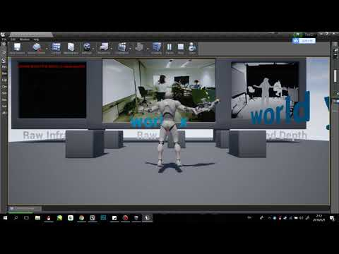 Kinect for UE4 3rd person shooter chracter pawn with local motion test