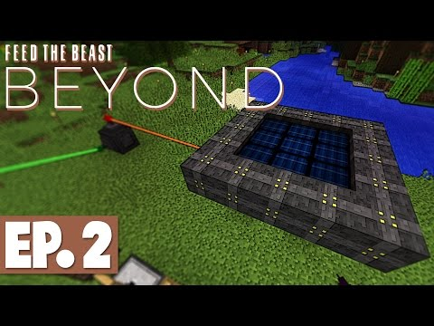 FTB Beyond - Vertical Miner, Empowerer & Multiblock Solar Panel! #2 [Modded Survival]