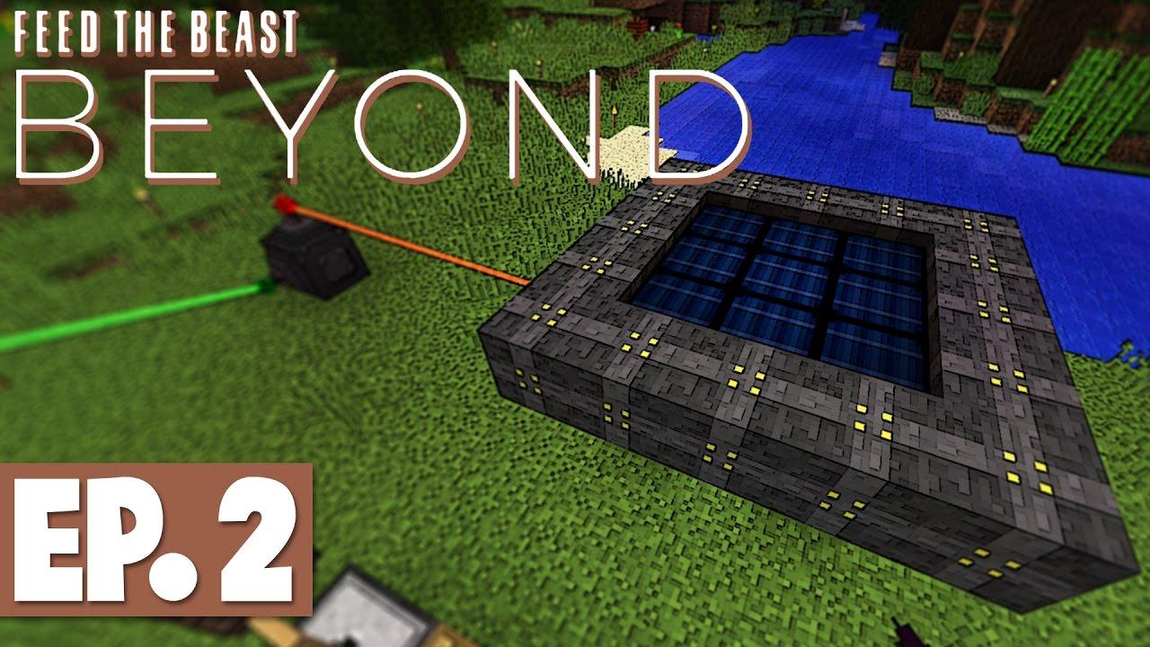 Ftb Beyond Vertical Miner Empowerer Multiblock Solar Panel 2 Modded Survival Youtube