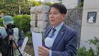 오세훈 서울시장 고발 후 인터뷰....이동욱
