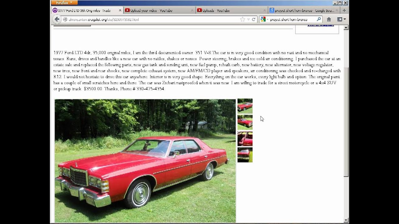 Best Of Akron Canton Craigslist 1977 Ford Ltd Youtube