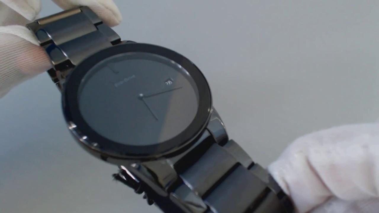 8233a20d25c Men s Black Citizen Eco Drive Axiom Steel Watch AU1065 58E - YouTube