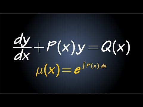 First Order Linear Differential Equation & Integrating Factor (idea/strategy/example)