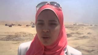 فرحة بنات مصر بقناة السويس الجديد فى اول موقع حفر أغسطس 2014