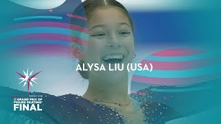 Alysa Liu (USA)   Ladies Free Skating   ISU GP Finals 2019   Turin   #JGPFigure