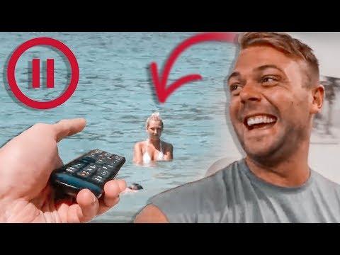 PAUS CHALLENGE 🛑 Johanna står i vattnet i 55 minuter!!!