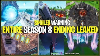 Fortnite : La saison 8 se terminant complètement ! SPOILER (Volcano Erupts/Nexus Vaulted Voting)