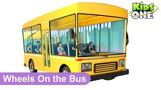 Wheels On The Bus | 3D Animation Nursery Rhyme | KidsOne
