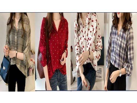 Stylish Cotton Shirt designs for Girls--Ladies shirt designs-- Casual Shirt design for women - 동영상