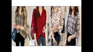 Stylish Cotton Shirt designs for Girls||Ladies shirt designs|| Casual Shirt design for women